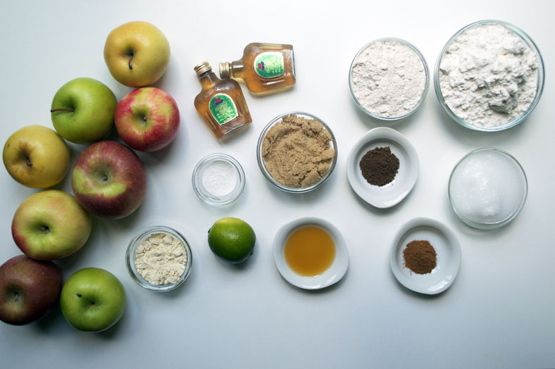 Ingredients for vegan apple pie