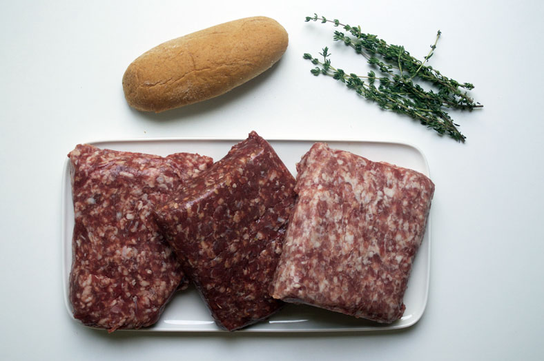 The Pylsur, or Icelandic hot dog, is traditionally made of equal parts beef, pork and lamb and seasoned with salt, pepper and fresh thyme. Here are the basic ingredients to make Pylsur.