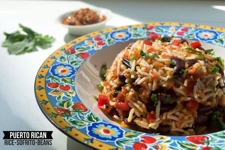 Mamposteao Puerto Rican Rice Sofrito And Beans