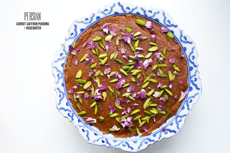 Halva ye havij is a Persian sweet carrot confection flavored with the likes of saffron and rosewater. It makes for a delicious dessert at any party!