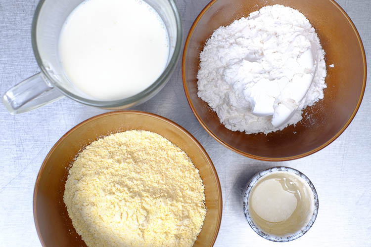 Ingredients for Jianbing batter