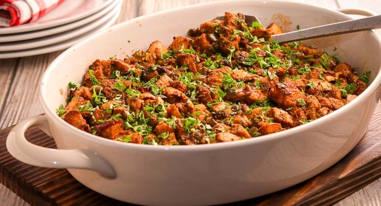 Oyster Cajun Stuffing - the perfect side dish for a Thanksgiving feast