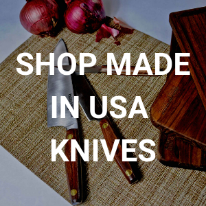 Explore our collection of beautiful made in USA chefs knife and other essential cooking tools for your kitchen